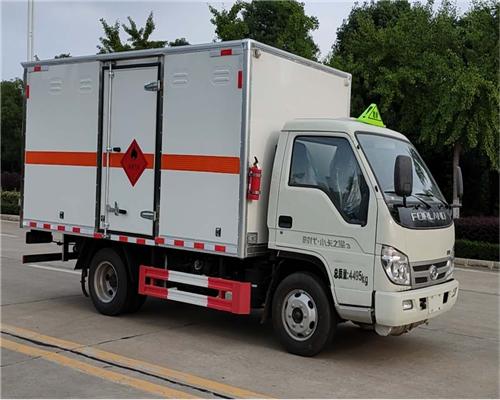 国六福田时代小卡SDS5040XZWB6型杂项危险物品厢式运输车(蓝牌)