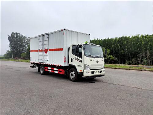 解放SDS5120XZWCA6杂项危险物品厢式运输车(黄牌柴油)